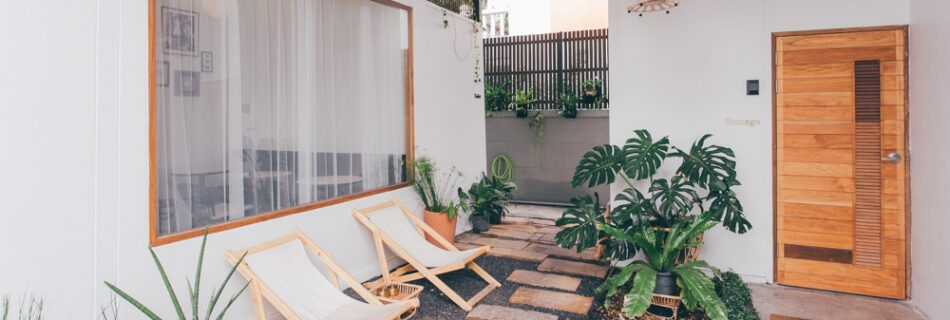DIY backyard